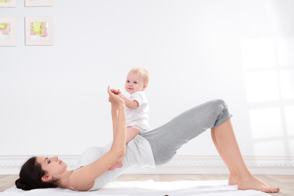 Como ficar rapidamente em forma após o parto